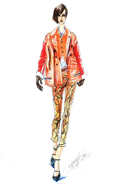 樊蓉老师马克笔服装设计效果图